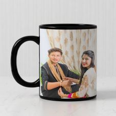 Personalized Black Patch Mug