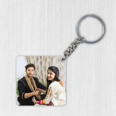 Personalized Wooden Keychain with Photo