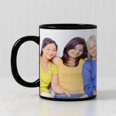 GiftsOnn Black Color Mug - Customized With Photo