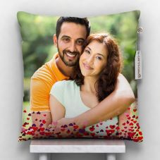 GiftsOnn Satin Photo Pillow For All Festival (White, 12x12 inch)