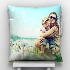 Giftsonn Personalized Photo Satin Pillow/Cushion- White, 12*12