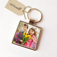 Personalized Metal Keychain with 2 Photos