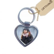 Personalized Heart Shaped Metal Key Ring