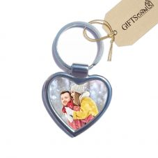 GiftsOnn Heart Photo Double Side Keychain