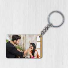GiftsOnn Wooden 6X3Cm Personalized Keychain (Rectangular)