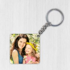 Mdf Photo Key Chain - Square Shaped
