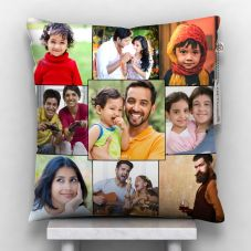 Personalized Satin Photo Pillow (White, 12x12-inch)