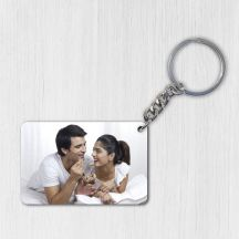 Personalized Rectangular Wooden Keychain