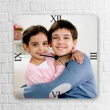 Personalized Square Wooden Clock
