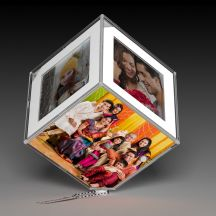 Lovely Personalized Led 6 Photos Cube