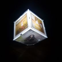 GiftsOnn Led Photo Frame With Your 6 Photos and 3 AAA Battery.
