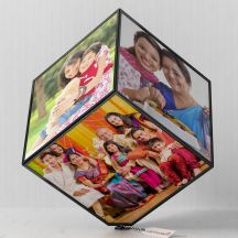 Personalised Photo Frame Cube - Rotating Photo Gifts Frame