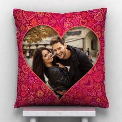 GiftsOnn Heart Personalized Cushion With Cover